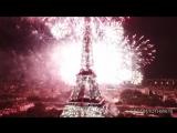 Салют из Эйфелевой башни на День взятия Бастилии, Париж 14.07.18