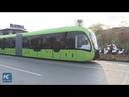 Trackless tram in Hunan, China