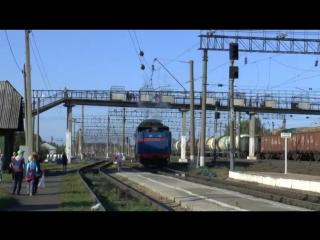 ретро-поезд в Коноше 16 08 2018