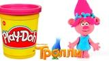 ТРОЛЛЬ РОЗОЧКА #Trolls Мультфильм Тролли из пластилина мультик для детей Сюрприз