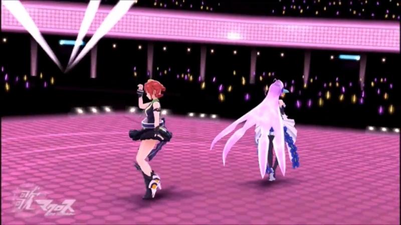 Kaname and Mikumo Triangler Uta Macross