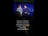 Александр Панайотов и Павел Воля на съёмках программы «Импровизация» на ТНТ