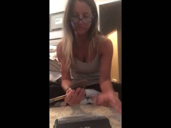 History channel reality show Alone season 3 sharpening my axe hatchet part 1 of 3