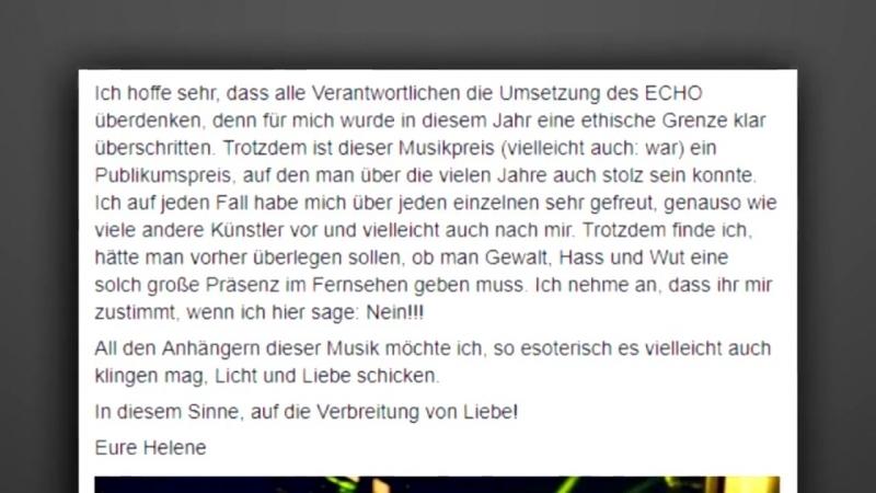 Nach Provokation- Helene Fischer reagiert auf Kollegah und Farid Bang- - Echo Auftritt Campino