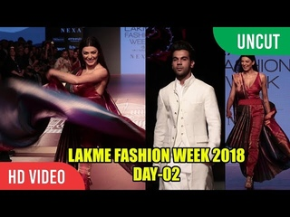 Lakme Fashion Week 2018 | Day 02 | Sushmita Sen, Rajkummar Rao, Mini Matur