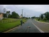 Мотоциклист потерял ногу