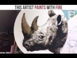 Рисует с помощью огня (VHS Video)