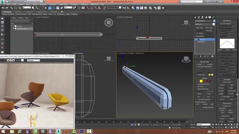 3dsmax model tortuga chair quickly