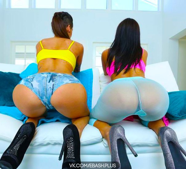 Big black asses in a thong