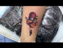 Тату-мастер Катя Маслова (colored tattoo planets) | Дом Элит Тату (Tattoo Studio Moscow)
