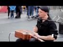уличные таланты Невероятный стук гитары отличный голос и лучший вокал диджериду Австралийский уличный музыкант Morf