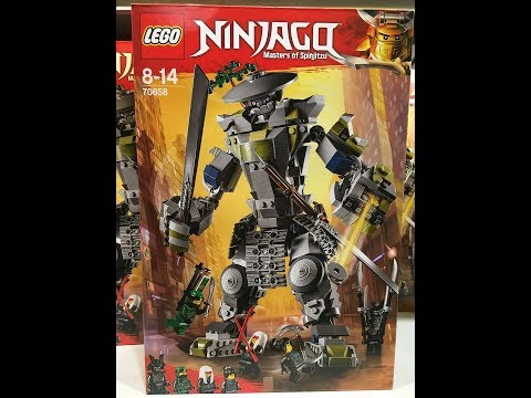 King News 17 Новый Набор Lego NinjaGo Oni-Titan и набор Lego NinjaGo Movie City Docks