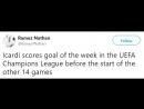 Реакция фанатов миланского Интера на гол Мауро Икарди в ворота команды из АПЛ Тоттенхэма в лиге чемпионов
