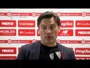 Montella: El equipo ha recuperado un partido muy difícil. 14/04/18. Sevilla FC
