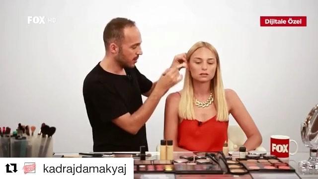 """FOX on Instagram """"Repost @kadrajdamakyaj ・・・ Konumuz makyaj, konuğumuz ise Nilperi Şahinkaya! Rıfat Yüzüakın makyajı sanata dönüştürdüğü Kadraj..."""