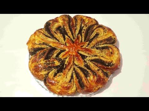 Пасхальный Цветок. Сдобная Выпечка с Маком и Орехами. Butter Baking