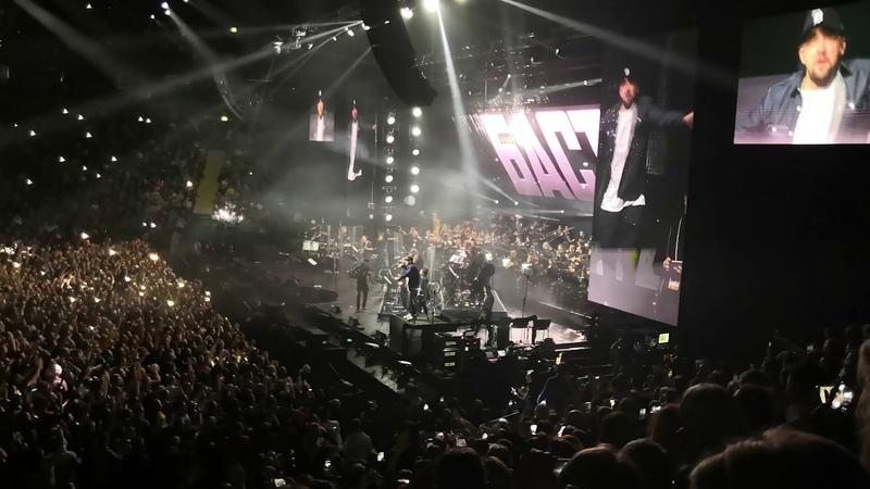Баста исполнил трек Моя игра в Санкт-Петербурге с симфоническим оркестром. 24 ноября 2018 г. (видео)