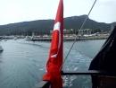 Отправление нашего корабля в открытое море из порта