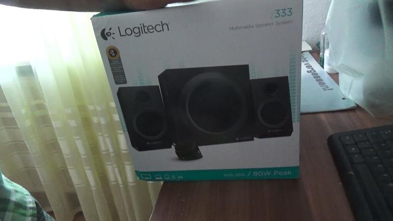 Колонки Logitech Z333 Multimedia Lautsprecher für Home Entertainment mit 80 Watt und Subwoofer
