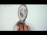 Как нарисовать 3D Рисунок -  Портал в другой Мир