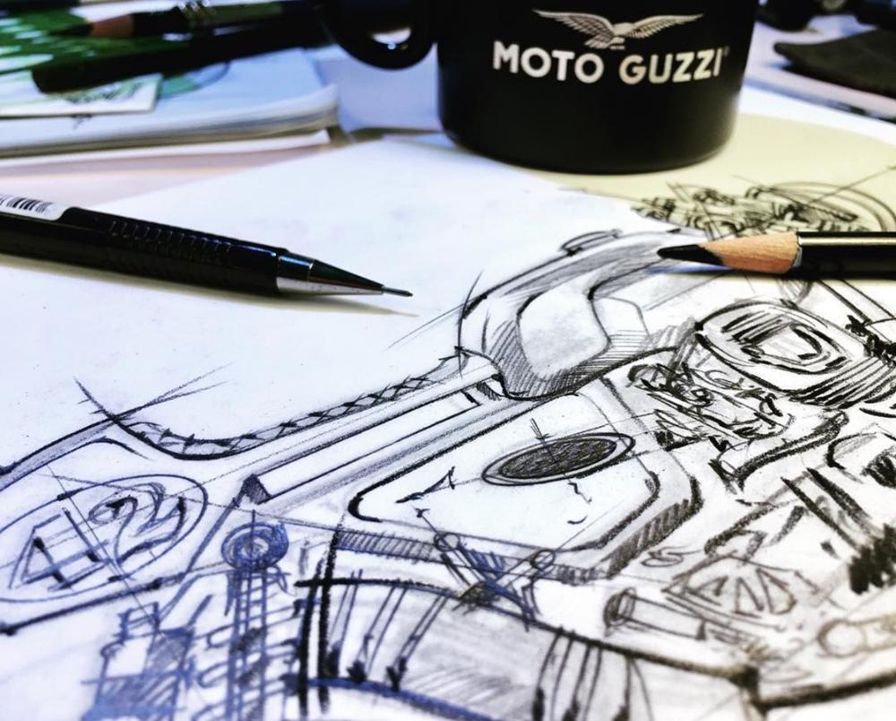 Fuhrer Moto: кафе рейсер Moto Guzzi V9