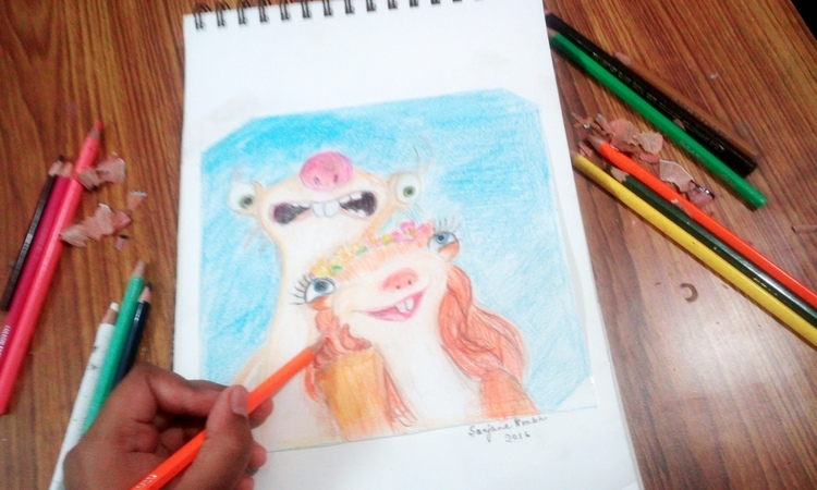 Ice age collision course ,BROOKE and SID speed drawing