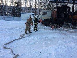 В Красноярском крае горела автозаправочная станция