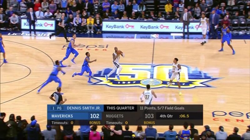 Refs missed 2 intentional fouls by Mavs on Nuggets' final possession