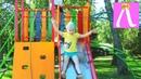 Отдых в ГОРНОМ АЛТАЕ детская площадка база Березка на озере АЯ