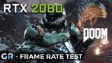 RTX 2080 DOOM 2160p1440p1080pMax Settings Frame Rate Benchmark Test