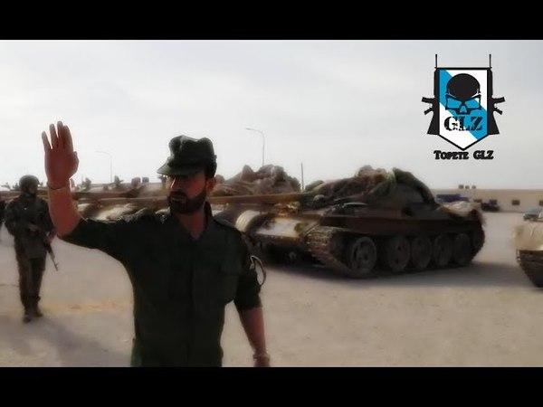 Siria - El General Suheil (El Tigre) examina armas confiscadas - 23 Abril 2018