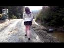 016 walking in skirt