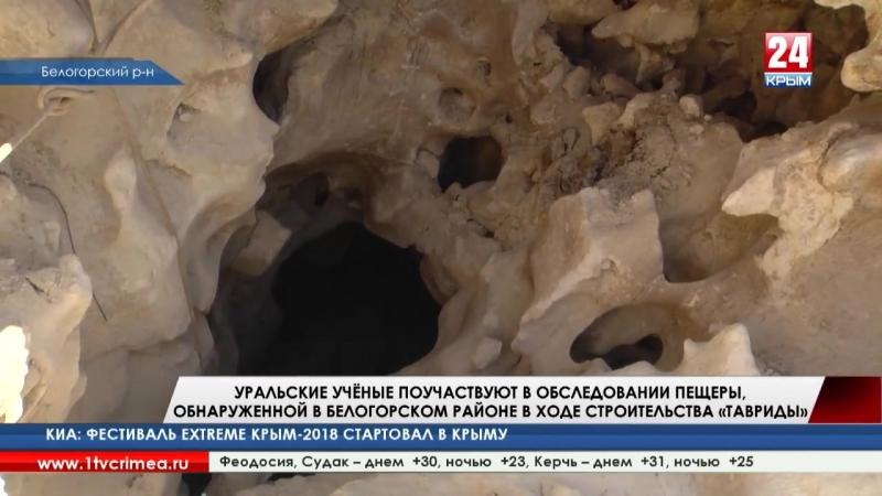 Уральские учёные поучаствуют в обследовании пещеры, обнаруженной в Белогорском районе в ходе строительства «Тавриды»