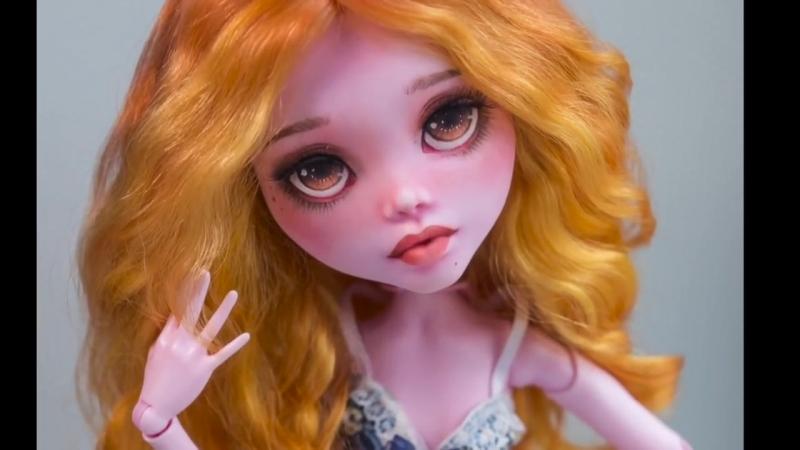 ООАК большая Дракулаура - роспись куклы урок от WillStore
