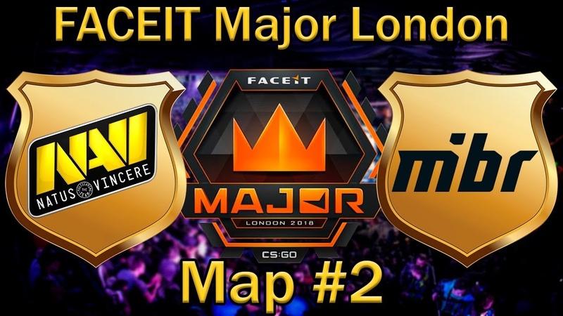 ДАСТ2 отделяет НАВИ от ФИНАЛА | NaVi vs Mibr Map 2 (bo3) de_dust2 [RU] | FaceIT Major London