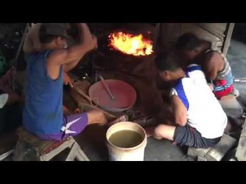 Gong making in Burma.