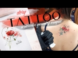 Tattoo story watercolor geometry maqius
