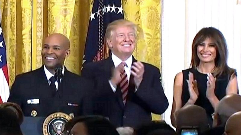 President Trump and First Lady Melania Trump Host a National African American History Month Receptio