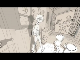 The Promised Neverland in 360° 朝の廊下 - 約束のネバーランド 全天球イラスト