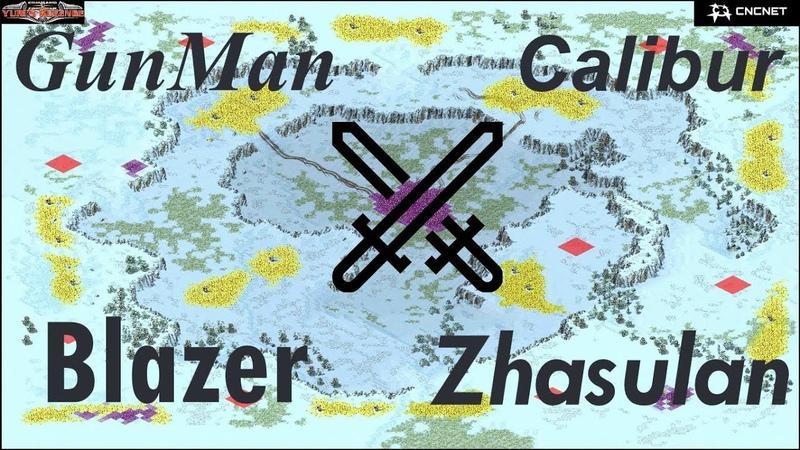 Red Alert 2 Yuri's Revenge - 2 vs 2 PRO Soviets vs SovietAllied Match on the map Heck Freezes Over
