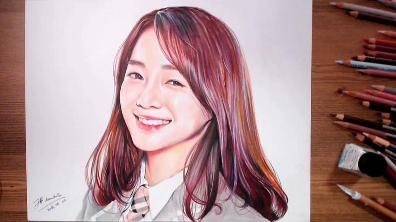 김세정(Kim Sejeong) 아이오아이 I.O.I - Speed drawing   drawholic
