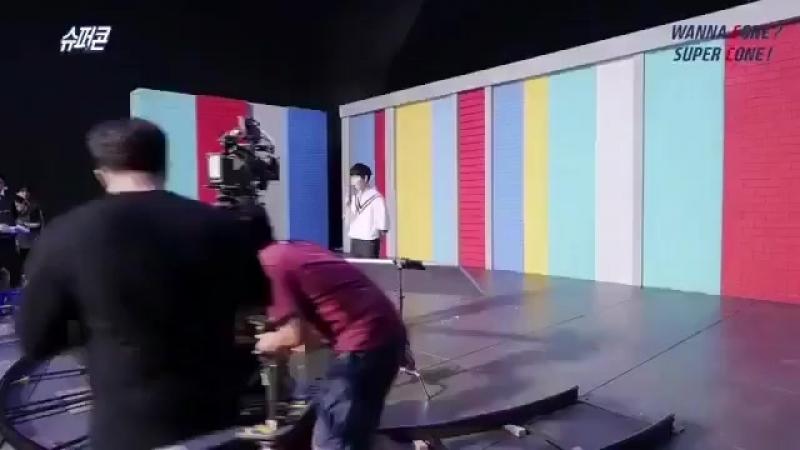 180816 Wanna One на съёмках рекламы Supercone