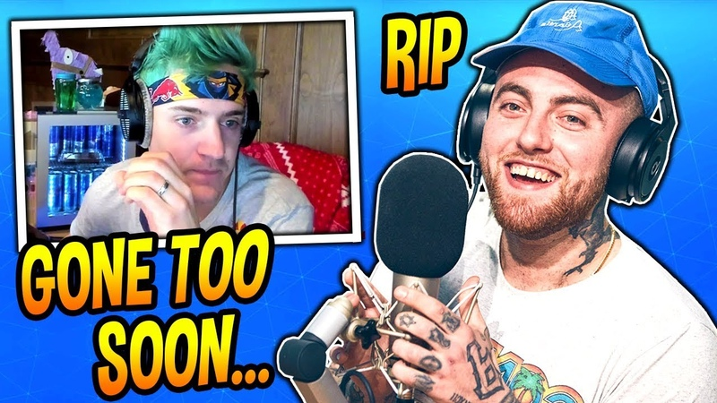 Ninja Reacts to Rapper Mac Miller's Death (REST IN PEACE) Fortnite Moments