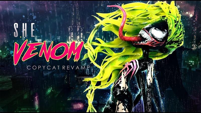 Doll Figurine SHE VENOM SCREAM Marvel Universe Comics | MCU | Superhero | Monster High Repaint Ooak