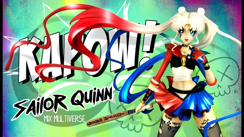Sailor Moon Harley Quinn Suicide Squad Unpainted Resin Model Figurine