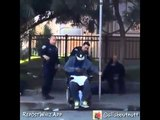 Police Officer Cop Tries To Dump Man Out Of His Wheelchair