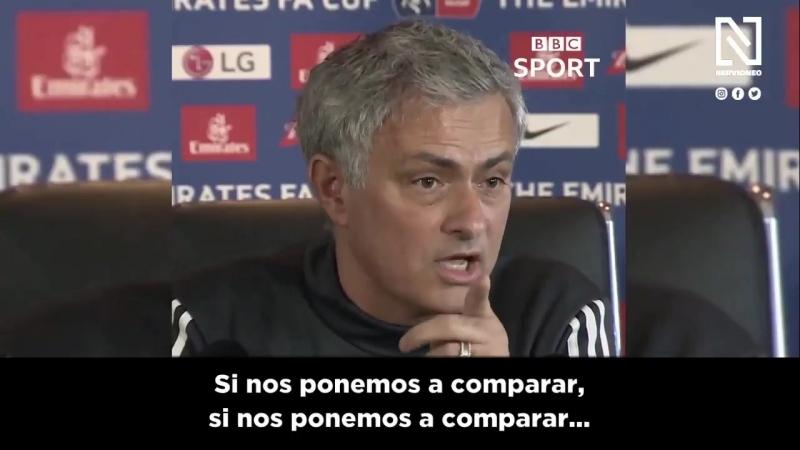 🎥 Video Mourinho hoy ha sido cuestionado en rueda de prensa por perder la eliminatoria contra el SevillaFC. Éstas han sido sus p