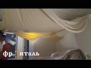 Комбинированный натяжной потолок с гипсокартоном. Натяжные потолки в Сочи