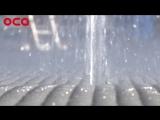Пробный запуск фонтана на площади ДК