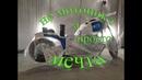 Тюнинг мотоцикла УРАЛ. Рихтовка бака гофры и фары идёт полным ходом.